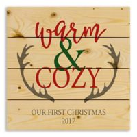 """Direct Designs """"Warm and Cozy"""" 14-Inch Square Pallet Wood Wall Art"""