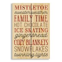 Designs Direct Happy Winter Things 7-Inch x 11-Inch Pallet Wood Wall Art