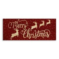 "Designs Direct ""Merry Christmas"" Reindeer 36-Inch x 14-Inch Pallet Wood Wall Art"
