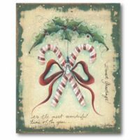 Courtside Market Hanging Candy Canes 16-Inch x 20-Inch Canvas Wall Art
