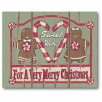 Courtside Market Sweet Wishes Gingerbread 20-Inch x 16-Inch Canvas Wall Art