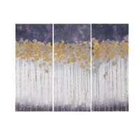 Madison Park 15-Inch x 35-Inch Midnight Forest Gel Coated Canvas Wall Art (Set of 3)