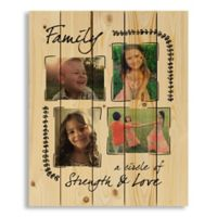 Designs Direct Family Strength and Love Collage 18-Inch x 22-Inch Pallet Wood Wall Art