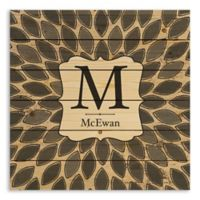 Designs Direct Leafies Monogram 21-Inch Square Pallet Wood Wall Art in Grey