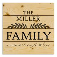 Designs Direct Family Strength and Love 14-Inch Square Pallet Wood Wall Art