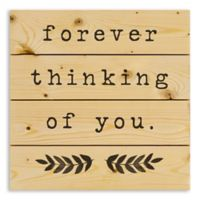 """Designs Direct """"Forever Thinking of You"""" 14-Inch Square Pallet Wood Wall Art"""