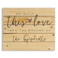 Designs Direct We Built this Love 18-Inch x 22-Inch Pallet Wood Art