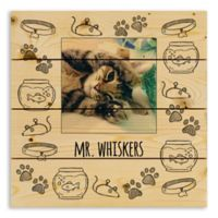 Designs Direct Cat Sketch 14-Inch Square Wood Pallet Wall Art