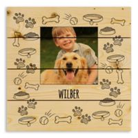 Designs Direct Dog Sketch 14-Inch Square Wood Pallet Wall Art