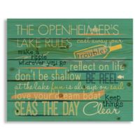 Designs Direct Family Lake Rules 22-Inch x 18-Inch Pallet Wood Wall Art