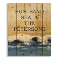 """Designs Direct """"Sun, Sand, Sea & Family"""" 18-Inch x 20-Inch Pallet Wood Wall Art"""