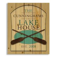 Designs Direct Family Lake House 18-Inch x 22-Inch Pallet Wood Wall Art