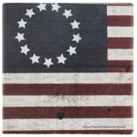 Thirstystone® Dolomite Betsy Ross Flag Single Round Coaster