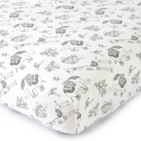 Levtex® Baby Animal Sketch Fitted Crib Sheet in White/Black