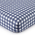 Levtex® Baby On the Go Fitted Crib Sheet in Blue/White