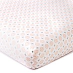 Levtex® Baby Skylar Coin Medallion Fitted Crib Sheet in Blush