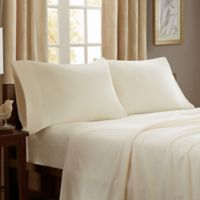 Peak Performance Knitted Microfleece Twin Sheet Set in Ivory