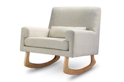 Upholstered U003e Nursery Works Sleepytime Rocker In Oatmeal With Light Legs