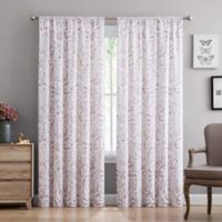 Truly Soft 84-Inch Watercolor Paisley Rod Pocket Window Curtain Panel Pair in Blush