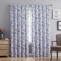 Truly Soft 84-Inch Watercolor Paisley Rod Pocket Window Curtain Panel Pair in Eggplant