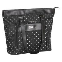 Kenneth Cole Reaction 15.6-Inch Computer Shopper's Tote in Black Dot