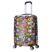 InUSA Signs 24-Inch Hardside Spinner Checked Luggage