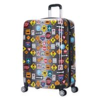 InUSA Signs 28-Inch Hardside Spinner Checked Luggage