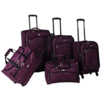 American Flyer Astor 5-Piece Spinner Luggage Set in Purple
