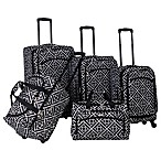 American Flyer Astor 5-Piece Spinner Luggage Set in Black