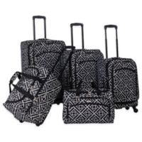 American Flyer Astor 5-Piece Spinner Luggage Set in Black