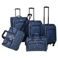 American Flyer Astor 5-Piece Spinner Luggage Set in Blue