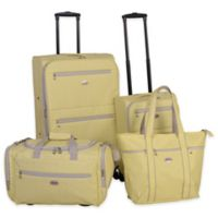American Flyer Meander 4-Piece Spinner Luggage Set in Yellow