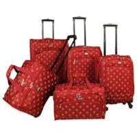 American Flyer Lyon 5-Piece Spinner Luggage Set in Red