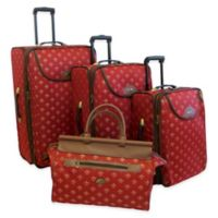 American Flyer Lyon 4-Piece Rolling Luggage Set in Red