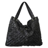 Amerileather Sana Leather Handbag in Black