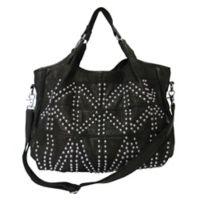 Spirit Studded Leather Tote Bag in Black