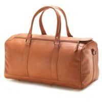 Clava® Vachetta Collection 19-Inch Leather Barrel Duffle in Tan