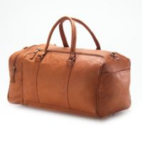 Clava® Vachetta Collection 20-Inch Leather One Pocket Duffle in Tan