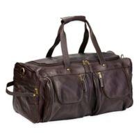 Clava® Vachetta Leather XL Duffle Bag in Coffee