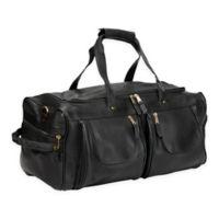 Clava® Vachetta Leather XL Duffle Bag in Black