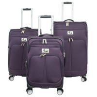 Chariot Prague 3-Piece Expandable Luggage Set in Purple