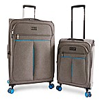 Original Penguin Colfax 2-Piece Expandable Spinner Luggage Set in Grey/Blue