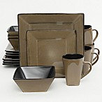 Gibson Kiesling 16-Piece Dinnerware Set in Taupe