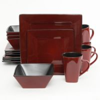 Gibson Kiesling 16-Piece Dinnerware Set in Red