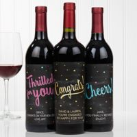 Congratulations Wine Bottle Labels