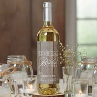 Rustic Bridal Shower Wine Bottle Labels