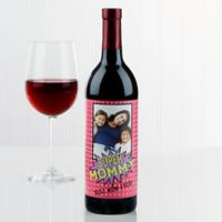 Super Hero Wine Bottle Label