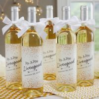 Sparkling Love Wedding Wine Bottle Label