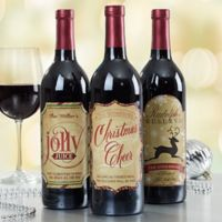 Very Merry Christmas Wine Bottle Labels (Set of 3)