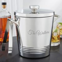 Top Shelf Stainless Steel Double Wall Ice Bucket with Tongs